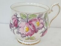 "Royal Albert Bone China  ""Dog Rose"" Teacup - Flower of the Month #6"