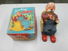 Vintage 1950's SAN Smoking Grandpa Battery Operated Toy.AS-IS