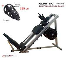 NEW 2017 Body-Solid GLPH1100 Leg Press / Hack Squat + 255 lb. rubber grip plates