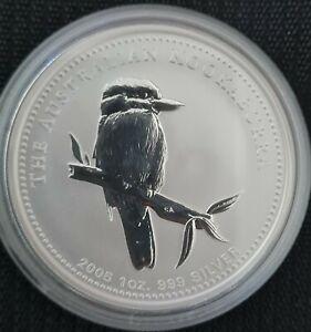 Perth Mint 1 Oz .999 Silver 2005 Australian Kookaburra