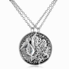 2pcs Necklace Set of Browning Deer Coin Pendants Best Friends Fashion Couples!