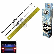 "2 Hog Tail (14.5"") Antenna Harley Davidson Ultra Classic AM FM Car Radio Kit"