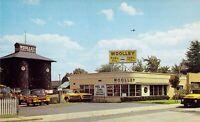 NJ Maplewood WOOLLEY FUEL CO Art Deco Building VINTAGE TRUCKS fleet postcard A85