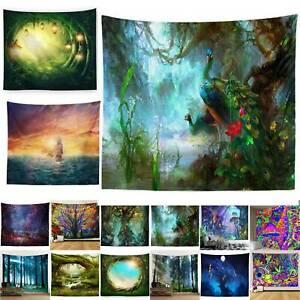 Art Tapestry Wall Hanging Scenery Bedspread Mandala Blanket Mat Throw Home Decor