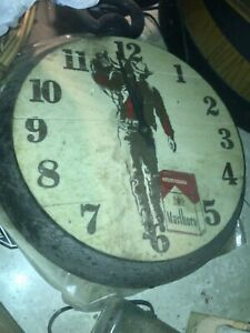 Rare Vintage Marlboro Man clock