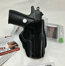 GALCO CCP Concealed Carry Paddle Holster RH Black Leather, 1911 COMPACT #CCP218B