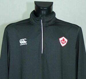 CANTERBURY ACTIVEWEAR TOP RUGBY CANADA LONG SLEEVE SIZE XXL EXCL //