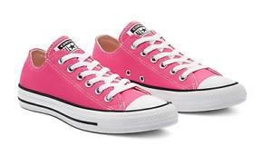 Converse Women's Chuck Taylor All Star Lo Sneaker - Hot Hyper Pink size 7
