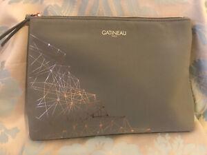 Gatineau Large Grey & Rose Gold Beauty Bag / Make-Up Bag
