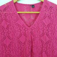 [ TS TAKING SHAPE ] Womens Pink Ornament Top | Size XXS or AU 14