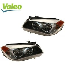 For BMW E84 X1 Pair Set of 2 Front Halogen Headlights Assembly OEM Valeo