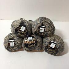 8 Skeins Sundae Swirl Yarn Plymouth 1.75 oz Worsted Weight Grey/Brown Cotton