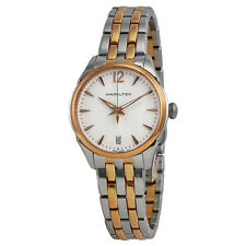 Hamilton Jazzmaster Lady Quartz Rose Gold PVD and Steel Ladies Watch H42221155