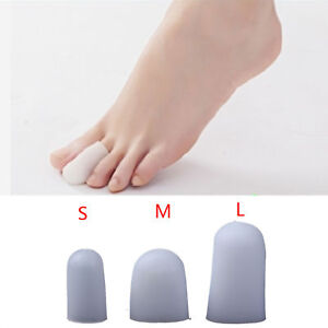 2 PCS SILICONE GEL TOE PROTECTOR COVER CAP PREVENT BLISTERS PAIN RELIEF FADDISH
