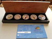 2012 DISCOVER AUSTRALIA SILVER PROOF 5 COINS SET LIMITED MINTAGE OF 7500 NO:2113