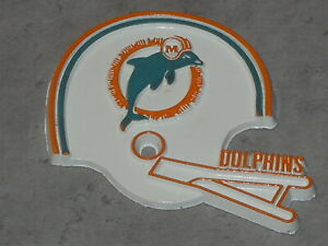 NFL Vintage MIAMI DOLPHINS Old RUBBER Football FRIDGE MAGNET Standings Board