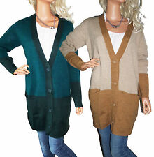 Button Wool Long Jumpers & Cardigans for Women