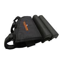 Tourbon Gun Stock Carry Ammo Pouch Cheek Piece Rest Pad Rifle Adjustable Black