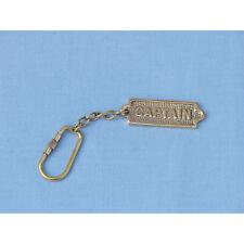Brass Captain Keychain