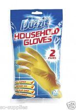 2 Pares de Guantes de limpieza de lavado medio del hogar Goma Látex Impermeable