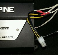 Alpine 4 pin 2 channel speaker high level input cable amp  car audio