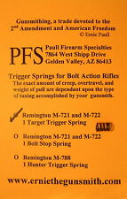 Remington M-721 and M-722 Target Trigger Spring