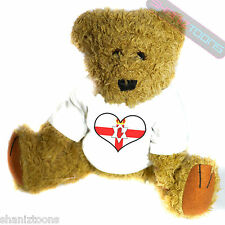 Northern Ireland Love Heart Flag Mascot Novelty Gift Teddy Bear