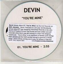 (CU642) Devin, You're Mine - DJ CD