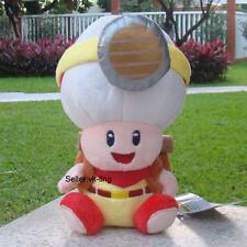"Super Mario Bros Run Plush Toy Captain Toad 7"" Backpack Treasure Tracker Doll"