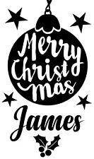 Personalised Christmas Wine Bottle Vinyl Sticker - Teacher Friend Family GIFT
