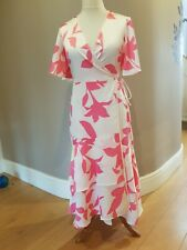 COAST  Pink floral Wrap over Maxi dress layered look UK Size 14 BNWT