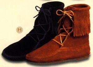 Minnetonka Moccasins 922 Men's Ankle High Tramper Boot Hardsole Brown Size 6