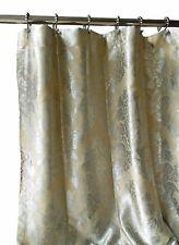 Luxury Shabby Chic Fabric Shower Curtain Damask Jacquard High Quality Silver Tan