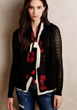 Anthropologie Knitted & Knotted Pom Fringe Cardi