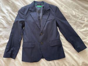 United Colours of Benetton boys navy blazer size 7-8yrs.