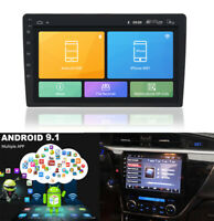"""2 Din Android 9.1 Car Stereo Radio 10.1"""" HD 1080P GPS Wifi Mirror Link BT DAB"""