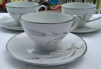 3 Noritake Prosperity Cup and saucer Sets