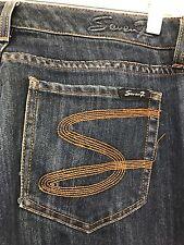HUGE MARKDOWN‼Seven Size 12 X 30 Straight Leg Dark Wash Blue Jeans