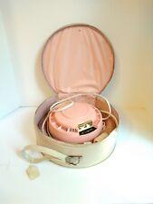 Vintage Universal Pink Hair & Nail Dryer w/case Bonnet retro stars