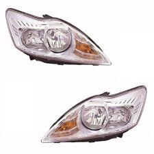 para Ford Focus MK2 3/2008-6/2011 faros Cromo 1 Par Lado del conductor & N/S