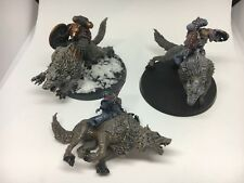 Warhammer 40k Space Wolves Marines Thunderwolf Calvary Painted X3 GW