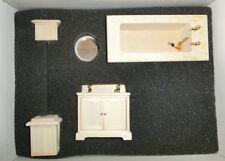 Baño completo kit madera para pintar escala 1/12