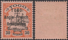 Togo 1914 Anglo-French Occupation SG H19 ''TOGOI'' Error + Flaw MLHOG SEE DESCR