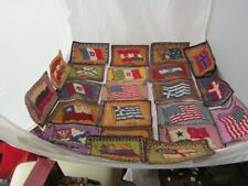 29 ANTIQUE CIGAR FELTS-FLAGS OF COUNTRIES EXCELLENT !!
