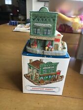 """Harmony Grove 1993 Miniature Village """"Greenfront Grocery"""""""