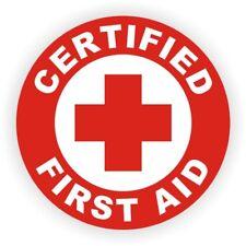 Certified First Aid Hard Hat Sticker | Safety Helmet EMT CPR Firefighter Rescue