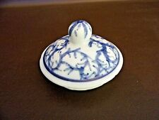 Replacement Blue & White Porcelain Lid Hand Painted (#14B047)