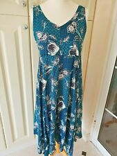 Dress Blue Size 14 Waterfall Floral