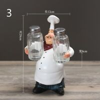 Resin Chef Figurine Figure Ornament Statue Model Cook Home Cute Restaurant Decor