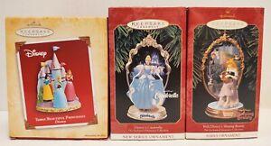 Hallmark Keepsake Disney Princesses Lot of 3